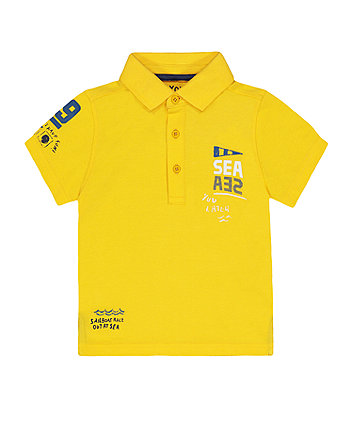 Mothercare Yellow Sailing Polo Shirt