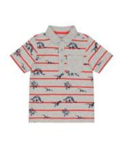 Mothercare Grey Stripe Dinosaur Polo T-Shirt