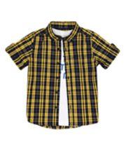 Mothercare Checked Shirt And Printed T-Shirt Set