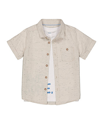 Mothercare Awesome Shirt And T-Shirt Set