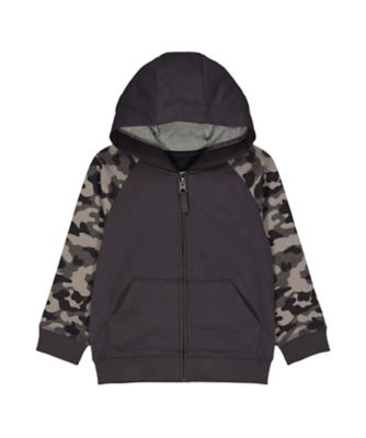 Mothercare Dinomite Black And Camo Hoody