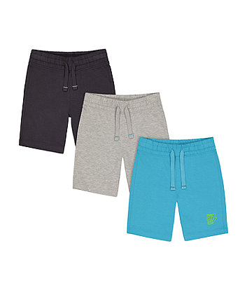 Mothercare Grey, Blue And Navy Shorts - 3 Pack