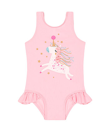 Mothercare Pink Sparkly Unicorn Swimsuit