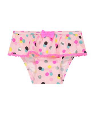 Mothercare Pink Spot Bow Pom-Pom Bikini Bottoms