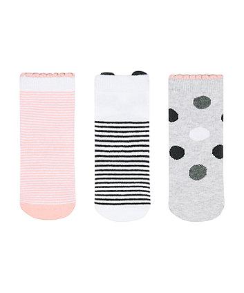 Mothercare Fashion Panda Novelty Socks - 3 Pack