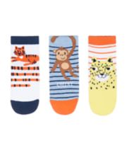 Mothercare Jungle Animals Socks - 3 Pack