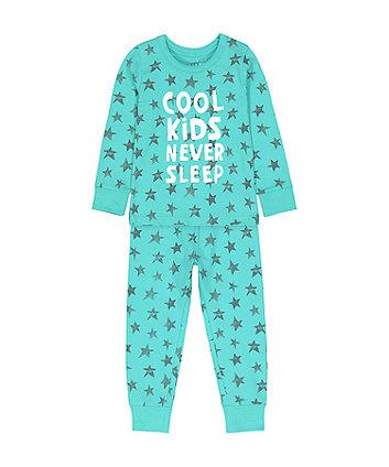 Mothercare Cool Kids Never Sleep Star Pyjamas
