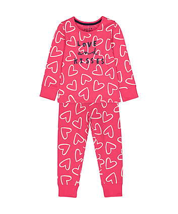 Mothercare Red Heart Love And Kisses Pyjamas