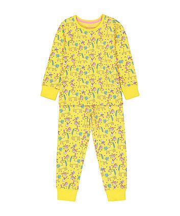 Mothercare Turquoise Glitter Unicorn Pyjamas