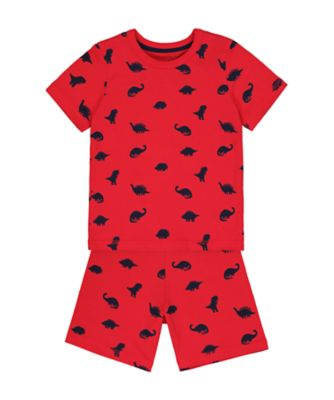 Mothercare Red Dinosaur Shortie Pyjamas