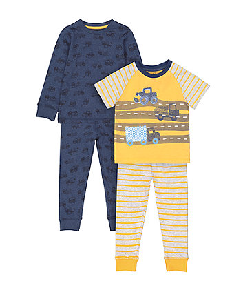Mothercare Fashion Vehicle And Story-Time Pyjamas - 2 Pack