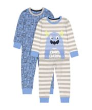 Mothercare Monster Pyjamas - 2 Pack