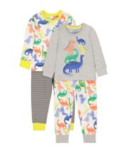 Mothercare Multicolour Dinosaur Pyjamas - 2 Pack