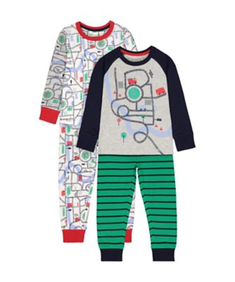 Mothercare Vehicle Road Pyjamas - 2 Pack