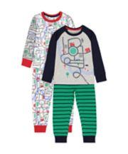 Mothercare Vehicle Road Pyjamas - 2 Pack