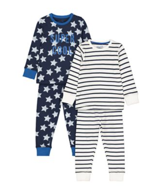 Mothercare Super Cool And Stripe Pyjamas - 2 Pack