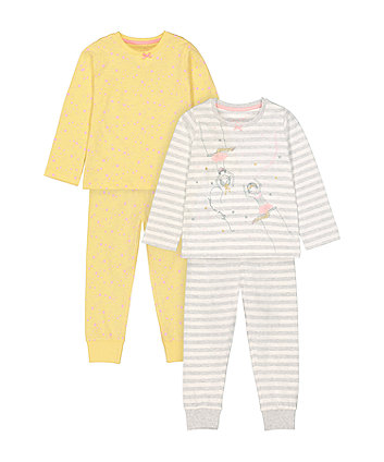Mothercare Circus Trapeze Ballerina And Star Pyjamas - 2 Pack