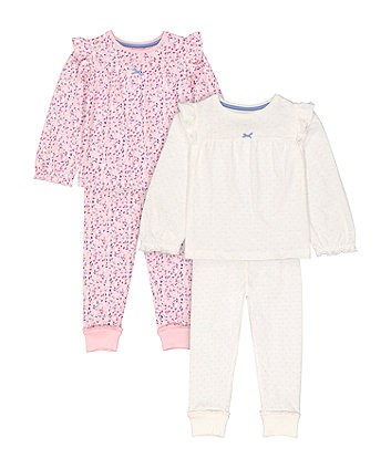 Mothercare Pink Floral And Dot Tunic-Style Pyjamas