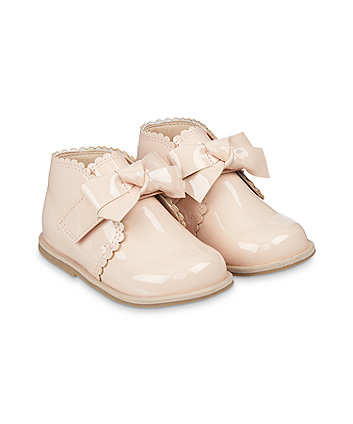 Mothercare Nude Patent Shoes