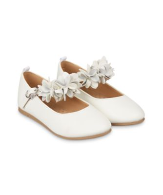 Mothercare White 3D Flower Ballerina Shoes
