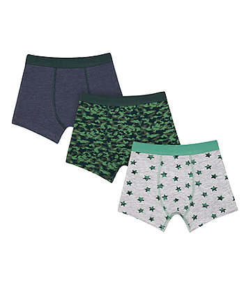 Mothercare Camo Star Trunks - 3 Pack