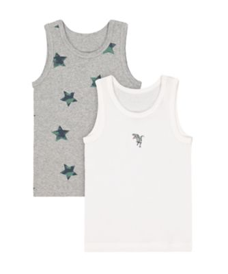 Mothercare Dinosaur And Star Vests - 2 Pack