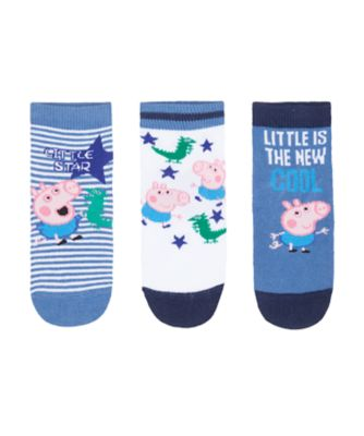 Mothercare Peppa Pig George Socks - 3 Pack