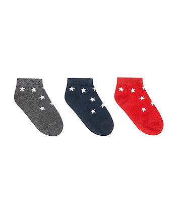 Mothercare Star Trainer Socks - 3 Pack