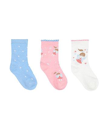 Mothercare Fairy Socks - 3 Pack