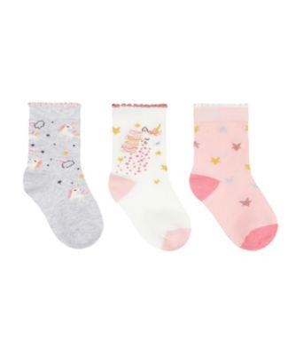 Mothercare Girls Party House Fringe Sock - 3 Pack