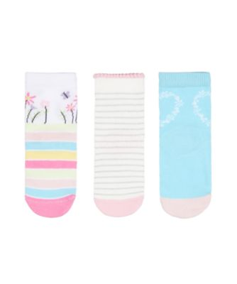 Mothercare Heart, Floral And Stripe Socks - 3 Pairs