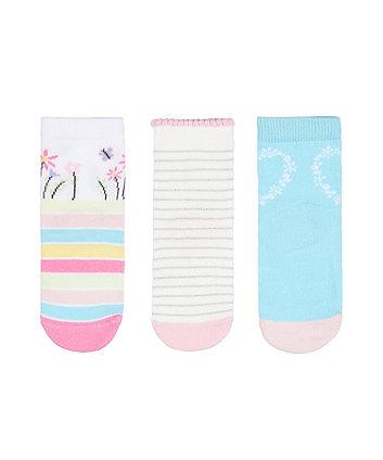 Mothercare Peppa Pig Socks - 3 Pairs