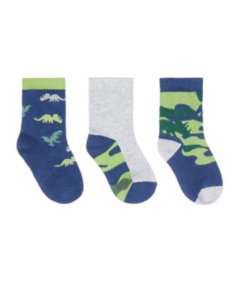 Mothercare Camo Dino Socks - 3 Pack