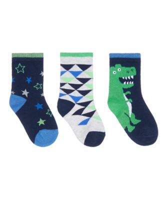 Mothercare Dinosaur Socks - 3 Pack