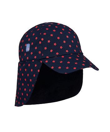 Mothercare Fashion Star Print Sun-Safe Keppi Hat