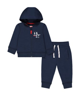 Mothercare MC61 Navy Zipthru Hoody And Jogger Set