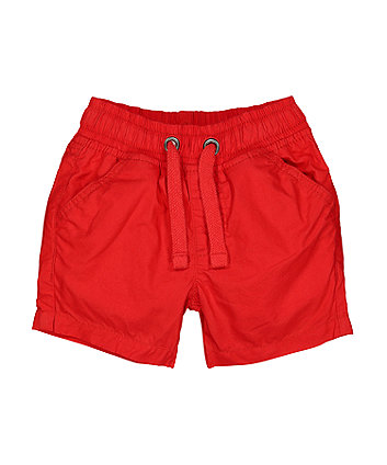 Mothercare Fashion Red Poplin Shorts