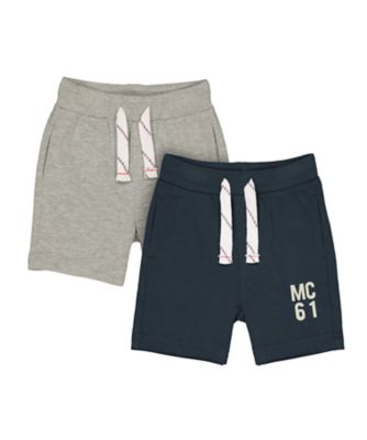 Mothercare MC61 Grey And Navy Jersey Shorts - 2 Pack