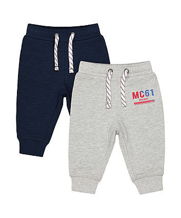Mothercare Grey And Navy Joggers - 2 Pack