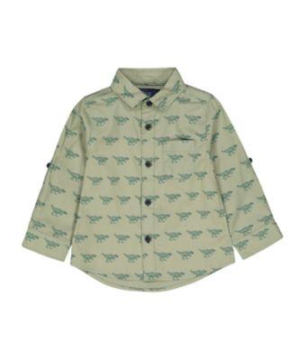 Mothercare Dino Dream Green Dinosaur Long Sleeve Shirt