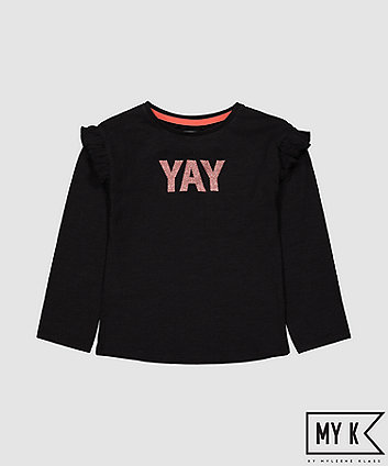 Mothercare Fashion My K Yay Glitter T-Shirt