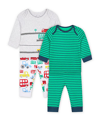 Mothercare Let'S Go! Vehicle Pyjamas - 2 Pack