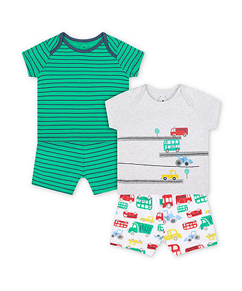 Mothercare Fashion Let'S Go! Vehicle Pyjamas - 2 Pack