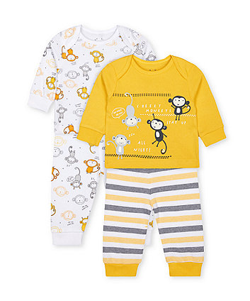 Mothercare Cheeky Monkeys Pyjamas - 2 Pack