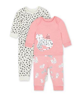 Mothercare Little Leopard Pyjamas - 2 Pack