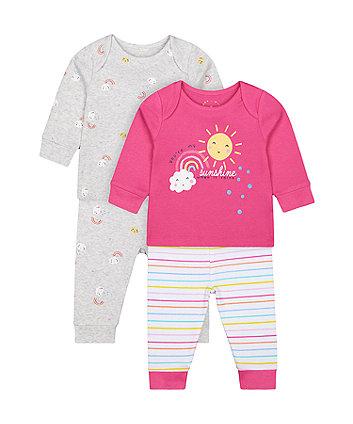 Mothercare Fashion You'Re My Sunshine Pyjamas - 2 Pack
