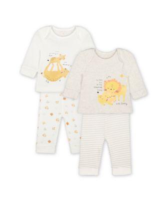 Mothercare Mummy And Daddy Sleepy Lion Cub Pyjamas - 2 Pack