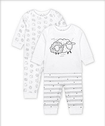 Mothercare Fashion Sleepy Sheep Pyjamas - 2 Pack