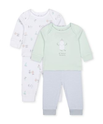 Mothercare Pastel Breakfast Buddies Pyjamas - 2 Pack