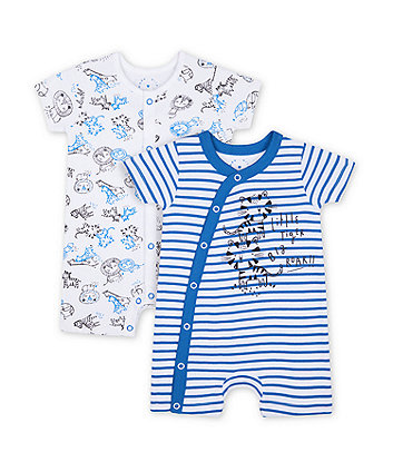 Mothercare Wild One Novelty Rompers - 2  Pack